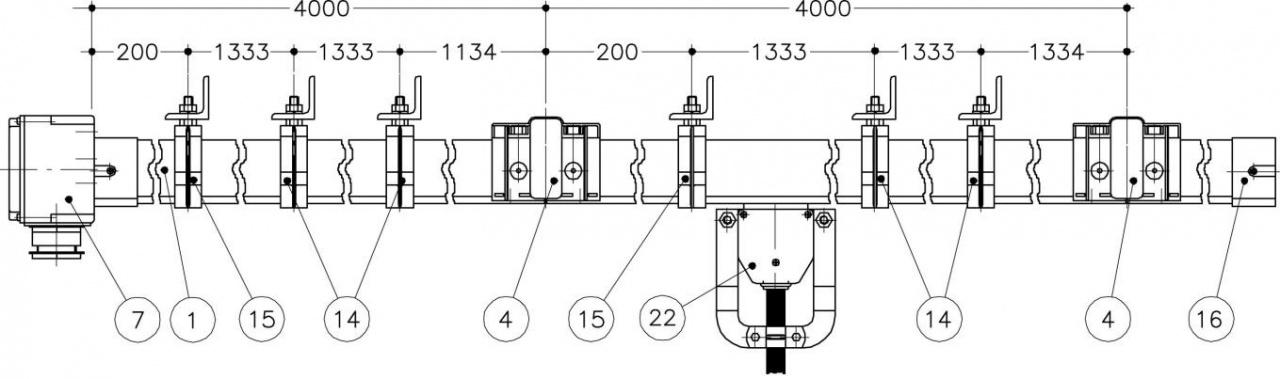 Троллейный шинопровод для крана